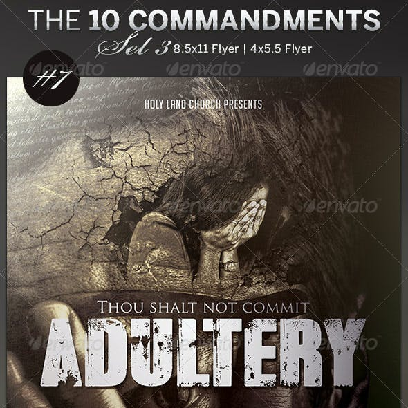 The 10 Commandments Flyer Templates Set 3