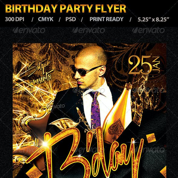 Birthday Party Flyer Vol 4