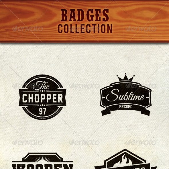 Badge Signs and Shield Collection