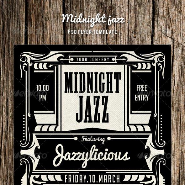 Midnight Jazz Flyer Template