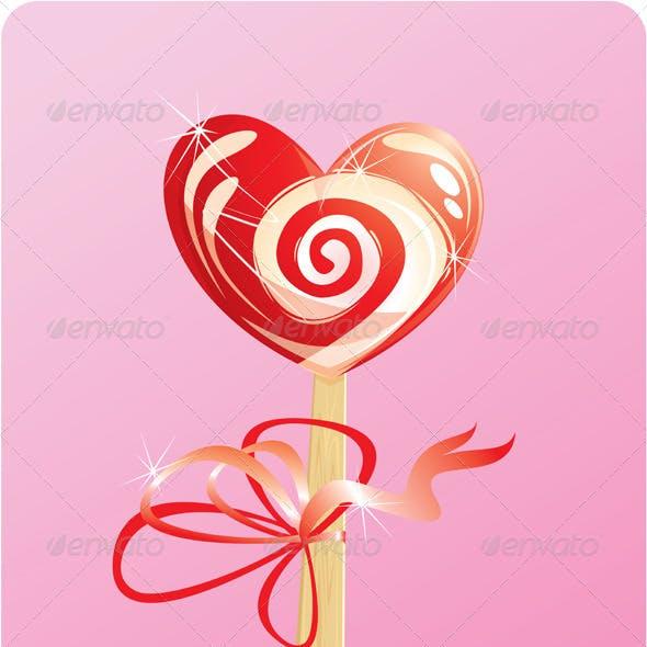 Heart Candy Lollipop