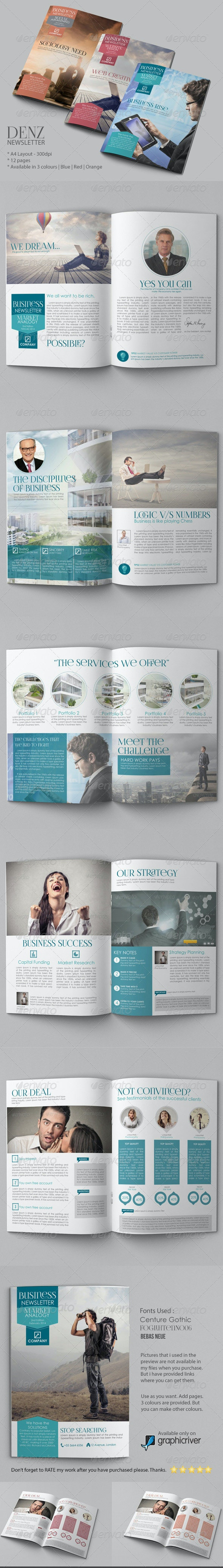 Business Newsletter Vol IV - Newsletters Print Templates