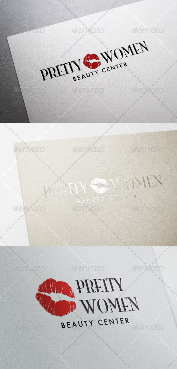 Pretty Women - Beauty Center and Wellness - Symbols Logo Templates