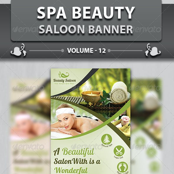 Spa & Beauty Saloon Banner | Volume 12