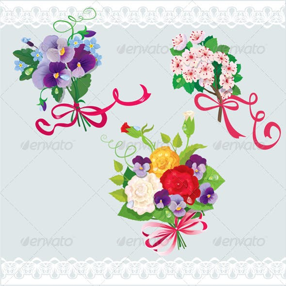 Set of Holiday Bouquets
