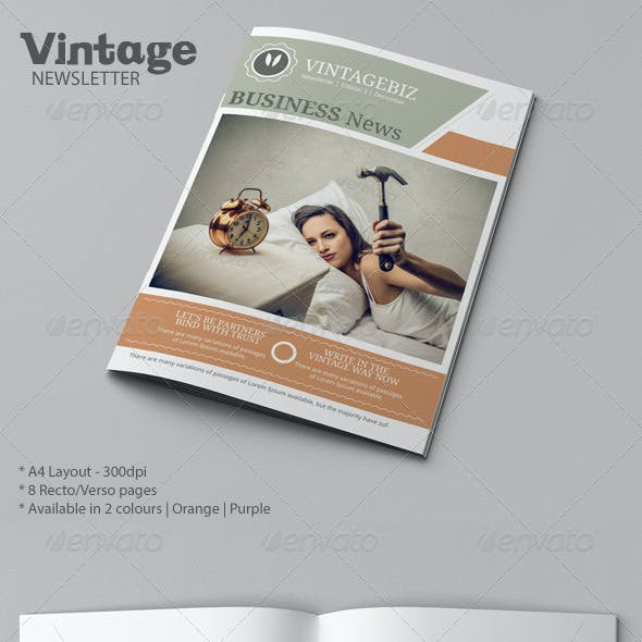 Business Newsletter Vintage Style