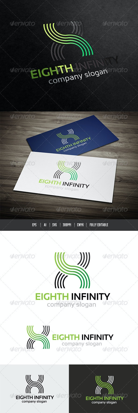 Infinity 8 - Numbers Logo Templates
