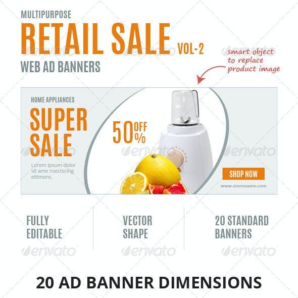 Multipurpose Retail Sale Ad Banners-Vol2