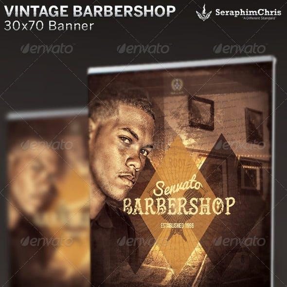 Vintage Barbershop Banner Template