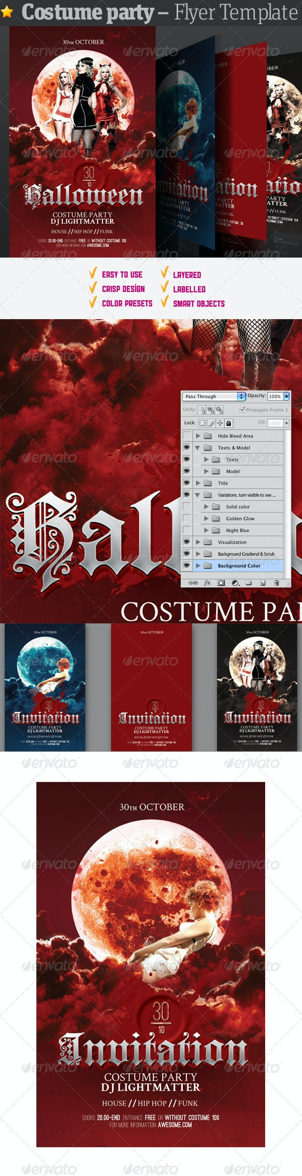 Costume Party - Flyer Template - Clubs & Parties Events