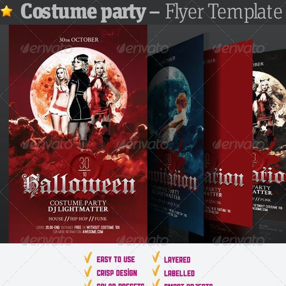 Costume Party - Flyer Template