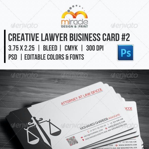 Creative Lawyer Business Card #2