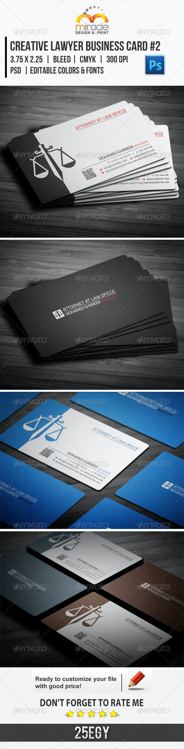Creative Lawyer Business Card #2 - Business Cards Print Templates