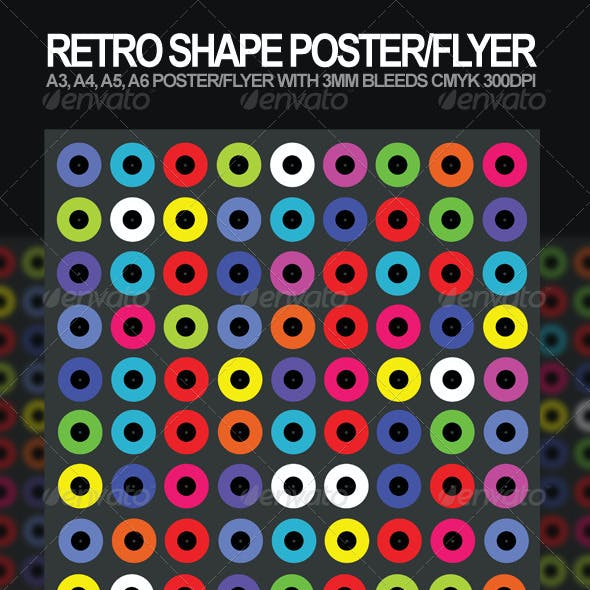 Retro Shape A3, A4 Poster and A5, A6 Flyer