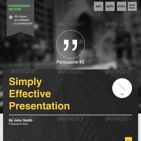 Persuasive #2 - Powerpoint Template