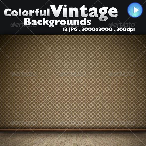 Colorful Vintage Backgrounds