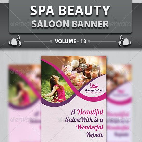 Spa & Beauty Saloon Banner | Volume 13