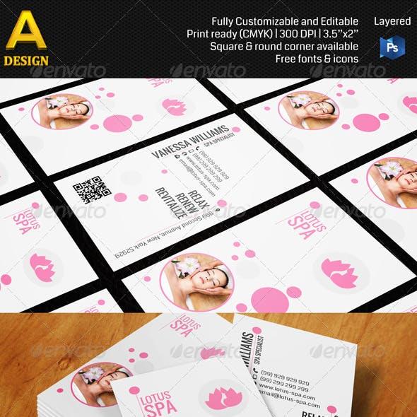 Spa Salon Business Card AN0166