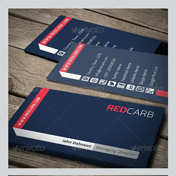 Red Carb Business Card