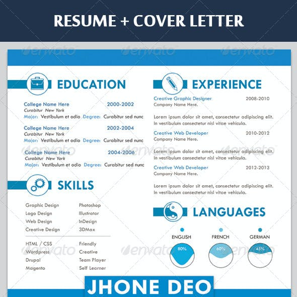 Clean Resume + Coverletter