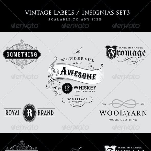 Vintage Logo / Insignia Set 3