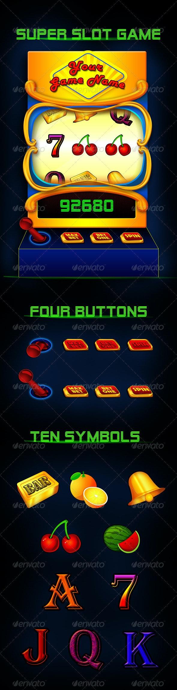 Super Slot Game Asset - Objects Illustrations