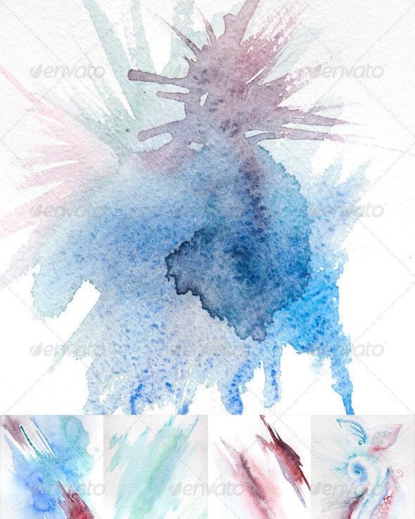 Natural Hand-Made Watercolor Texture - Art Textures
