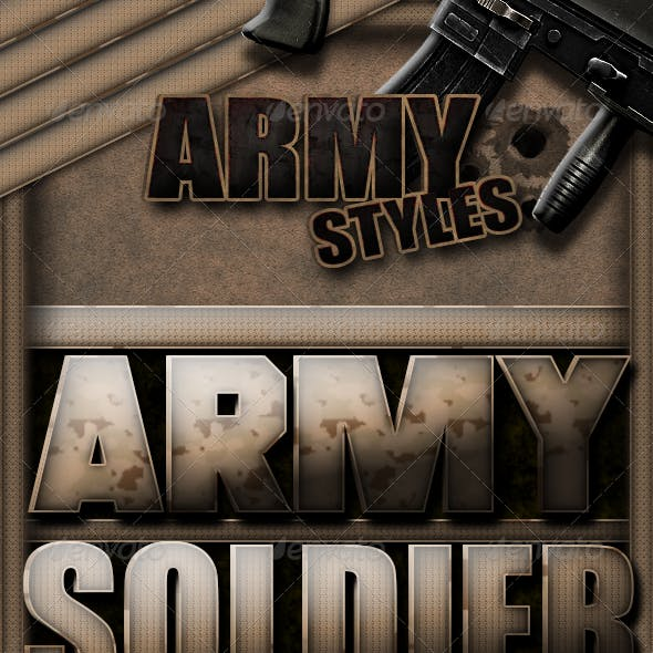 10 Army Text Styles