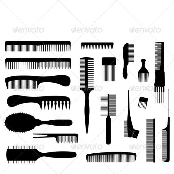 Set of Different Combs