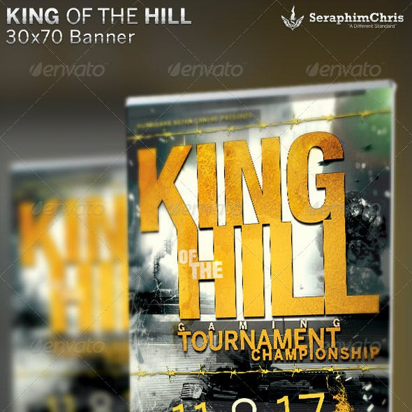King of the Hill Gaming Banner Template