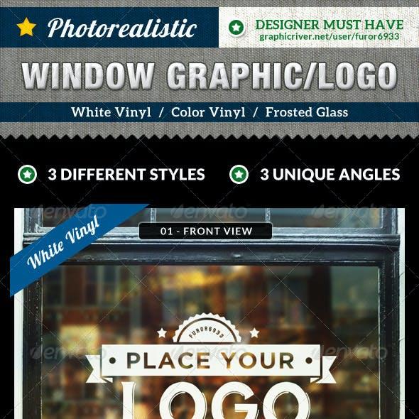 Photorealistic Glass Window Mock Up