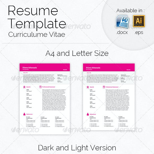 5 Pieces Resume Template