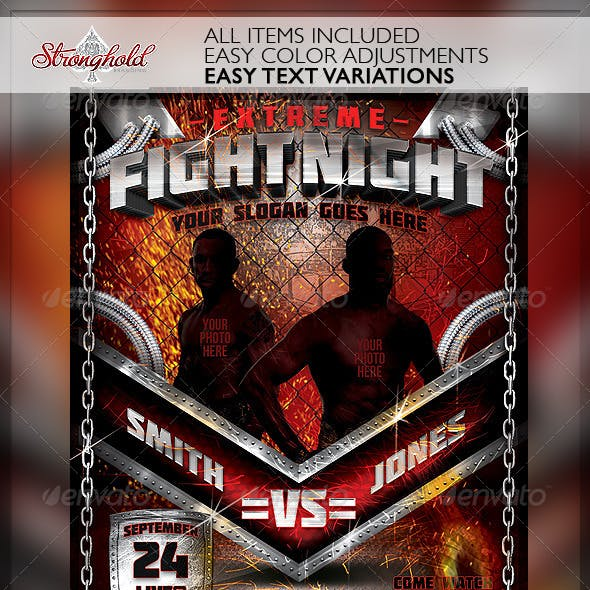 Extreme Fight Night Flyer Template