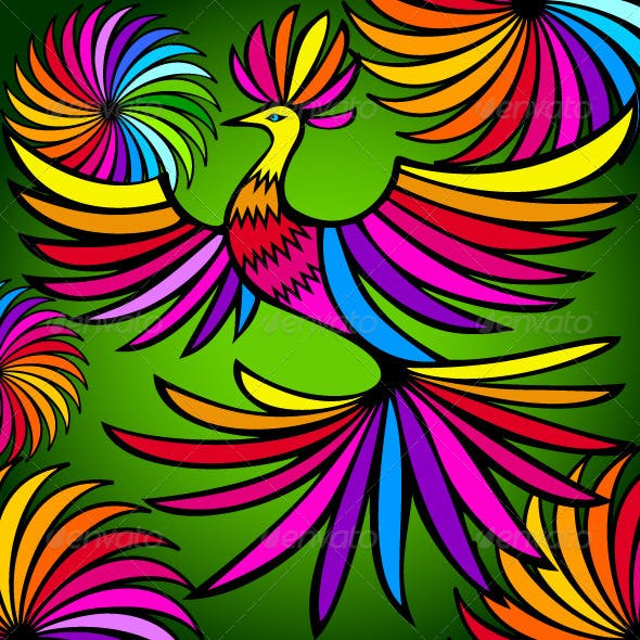 Exotic Colorful Bird