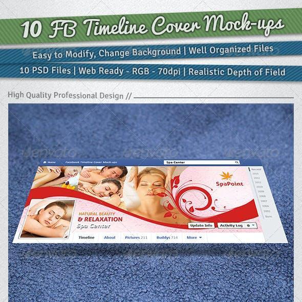 10 Facebook Timeline Cover Mock-ups