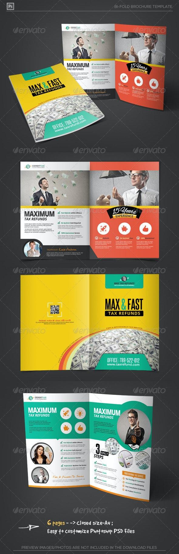 Business Tax Refund Bi-Fold Brochure - Corporate Brochures