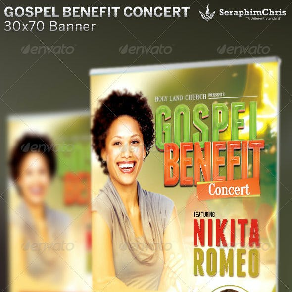 Gospel Benefit Concert: Church Banner Template