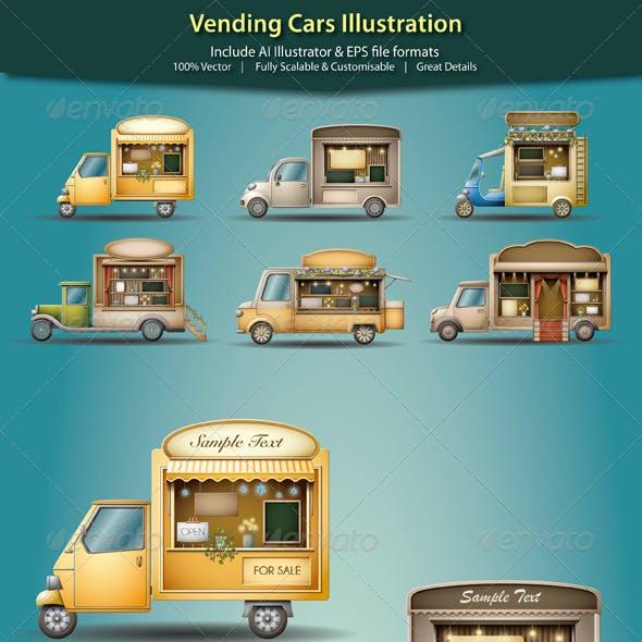 Vending Cars Illustration