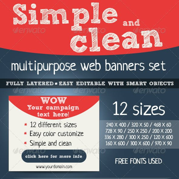 Simple And Clean Designed Banners