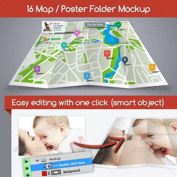 Map / Poster Folder Mockup
