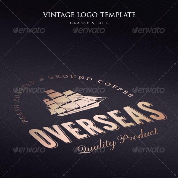 Vintage Overseas Logo Template