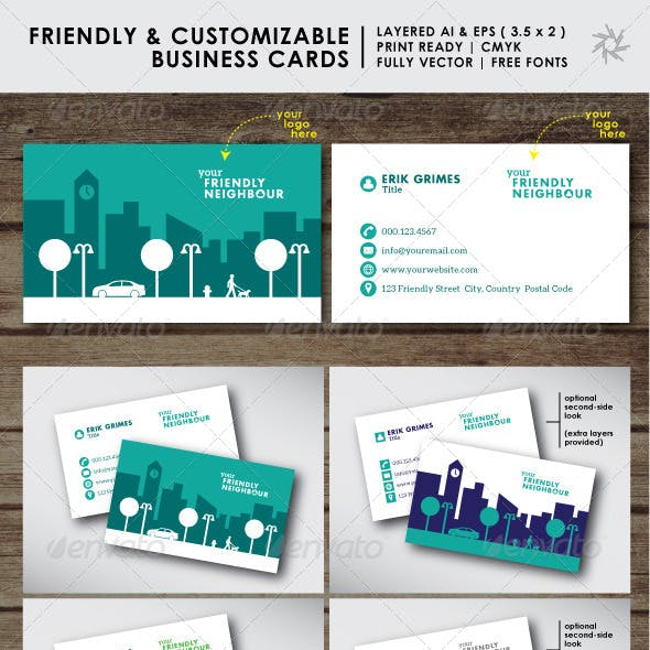 Creative Business Cards - Cityscape