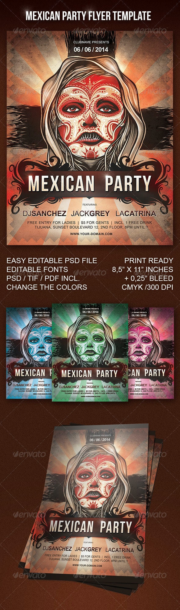 Mexican Party Flyer - Miscellaneous Events