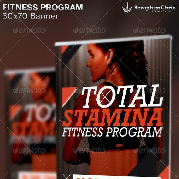 Total Stamina: Fitness Banner Template
