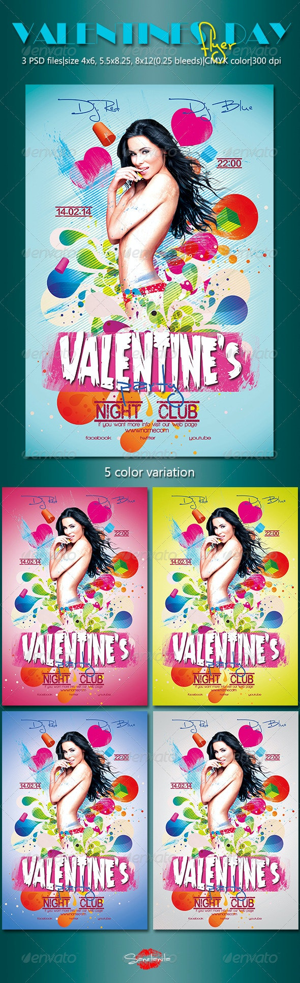 Valentine's Day Flyer 2 - Holidays Events