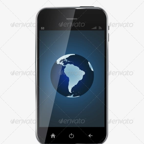 Abstract Design  Realistic Mobile Phone