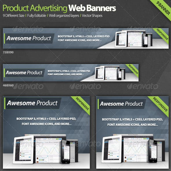 Product Advertising Web Banners