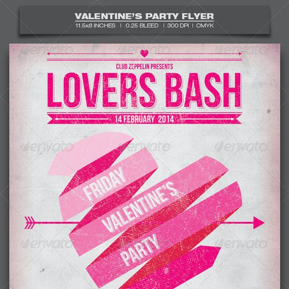 Valentine's Day Party - Event Flyer Template 3