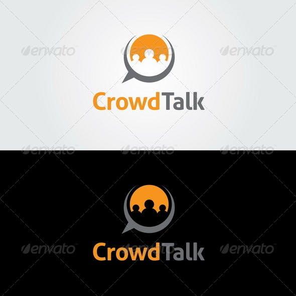 Crowd Talk  Logo Template