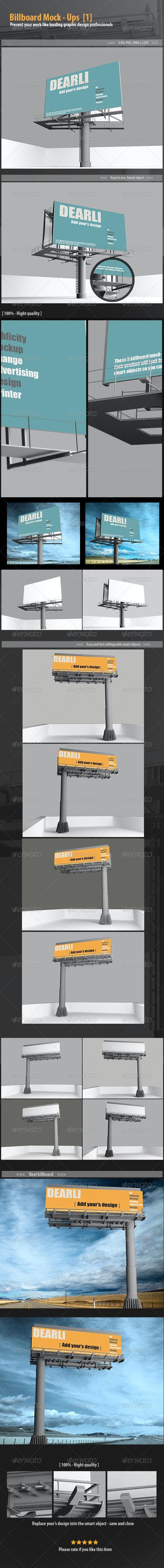Billboard mockup - Posters Print